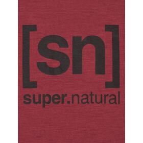 super.natural Essential I.D. T-Shirt Homme, cabernet melange/jet black logo